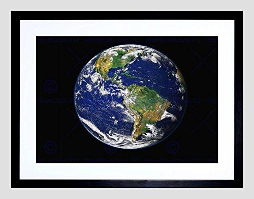 Earth The Blue Marble Black Framed Art Print B12X2413 ()