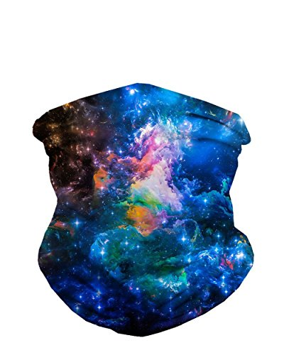 INTO THE AM Interstellar Matter Galaxy Print Seamless Mask - To What Festival Wear To Music Summer