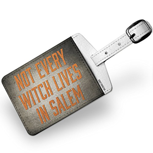 Luggage Tag Not Every Witch Lives in Salem Halloween Spooky Design - NEONBLOND