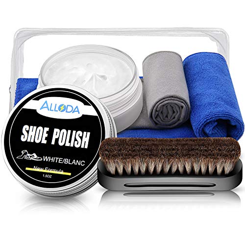 Shoe Polish Cleaning Kit, White Shoe Polish, Alloda, Shoe Care Kit, Nourishes and Protects Leather
