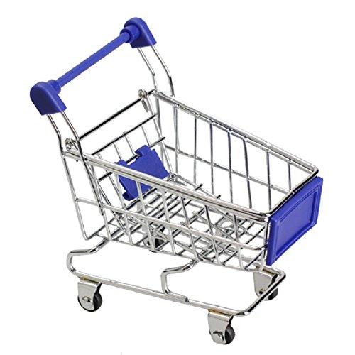 Generic amarillo: 6 colores Mini Supermercado Carrito de acero inoxidable Verde compras utilidad cesta modo de almacenamiento Juguete para Niños LD: ...