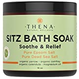 Best Organic Sitz Bath Soak For Natural Postpartum Care Recovery & Hemorrhoids Relief, Safe At-home Treatment, Soothe Relieve Pain or Discomfort, Reduce Swelling, Epsom & Dead Sea Salts Lavender Oil