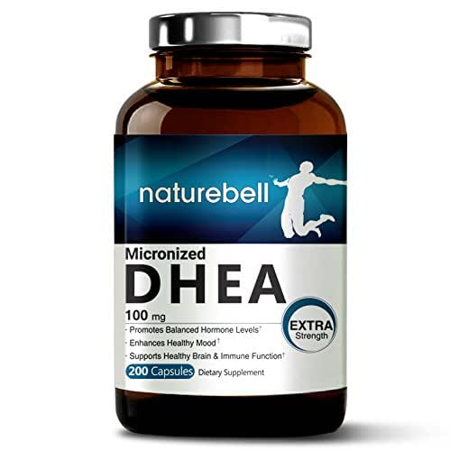 Pure DHEA (100mg Max Strength, 200 Capsules ), Supports Energy Level for Men & Women, Healthy Metabolism and Libido Function, Made in U.S