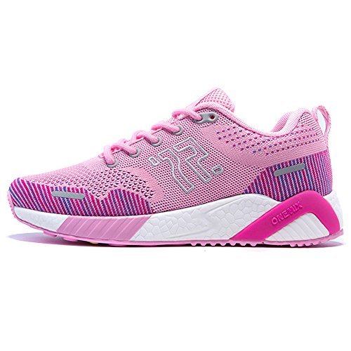 Women Jogging Running Unisex Pink white Shoes Men's Sneakers Onemix Athletic Enwq1gTY