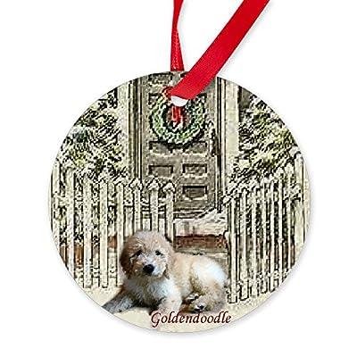 CafePress-Goldendoodle-Christmas-Round-Christmas-Ornament
