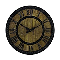 Better Homes and Gardens Rustic Wooden Wall Clock