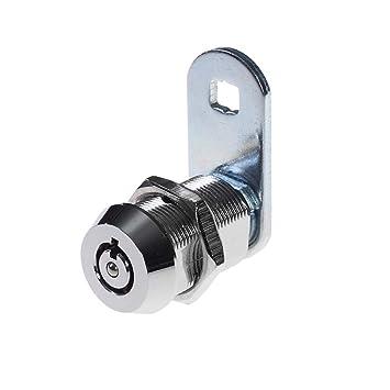 Bona 1 pieza tubular cajón de seguridad Cam Cilindro Puerta Buzón Armario Caja de herramientas cerradura 2 llaves hardware cerraduras con llave (16 mm): ...