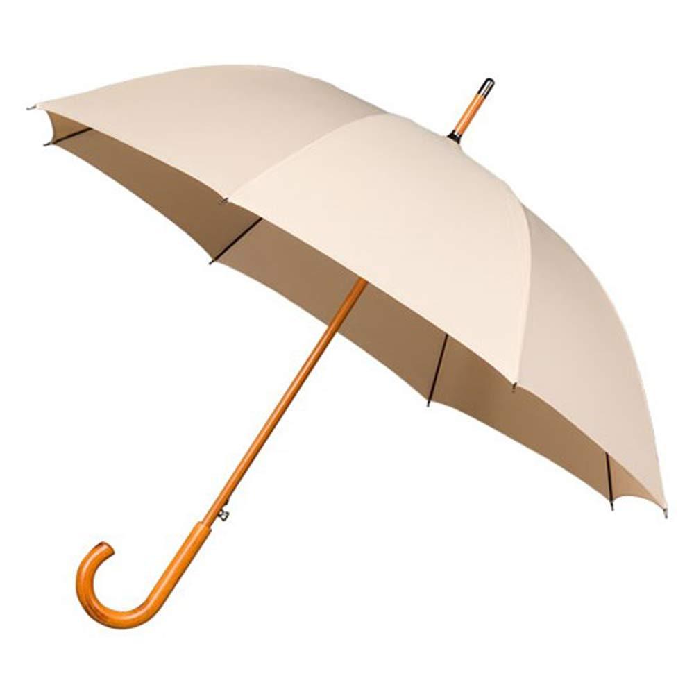Falcone Parapluie Canne avec Ouverture Automatique et résistant au Vent, 89 cm, Beige