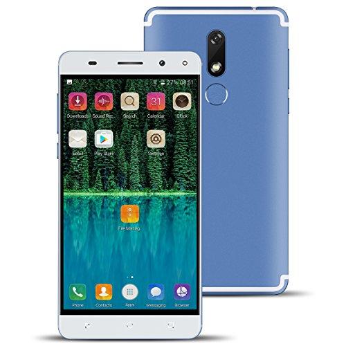 4G SIM Free Mobile Phone,Padgene Unlocked Android 7.0 Smartphone 2G RAM + 16G ROM with Dual SIM & Camera(8.0MP/2.0MP) Fingerprint Scanner 5.5 Inch 2800mAh (Blue)