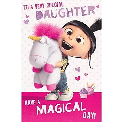 Despicable Me - Tarjeta de cumpleaños para hija, diseño de ...
