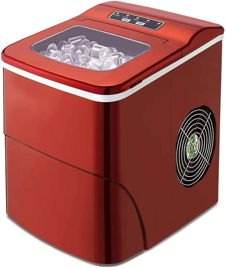 VIVICL Ice Maker Stainless Steel Shaved Ice Machines, 9 Cubes Ready in 6 Minutes, 26lbs/24hrs, Portable Ice Cube Maker with Ice Scoop and Basket, for Home Kitchen