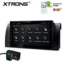XTRONS Android 7.1 Quad Core 9 Inch 2G RAM 32G ROM HD Digital Multi Touch Screen Car Stereo Radio Player GPS OBD2 for BMW X5 E53 Car DVR Included