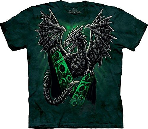 The Mountain Men's Electric Dragon T-Shirt, Green, Medium