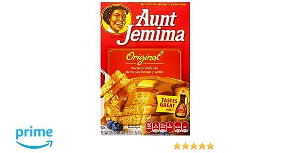Aunt Jemima Pancake & waffle mix original preparado para panqueques 453g: Amazon.es: Alimentación y bebidas