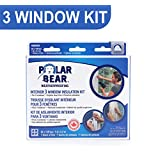 Polar Bear Weatherproofing Standard 3 Window Insulation Film Kit - 62 Inch x 126 Inch - Crystal Clear Film