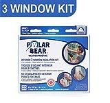 Polar Bear Weatherproofing Standard 3 Window Insulation Film Kit - 62 Inch x