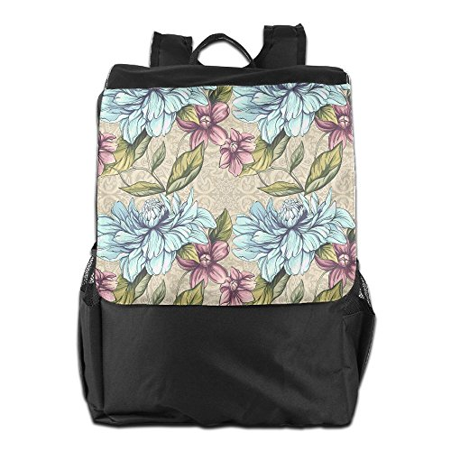 Colorful Flowers Outdoor Travel Hiking Camping Daypack Shoulder Packsack Bag School Backpack For Men Women And Teens