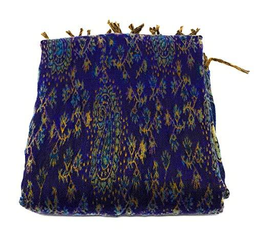 Mujer Own Paisley Blau Agas Bufanda De dfYctq