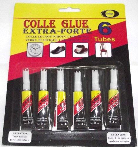 Set 6Tube Super Glue Kleber starke Multi Gebrauch Basteln