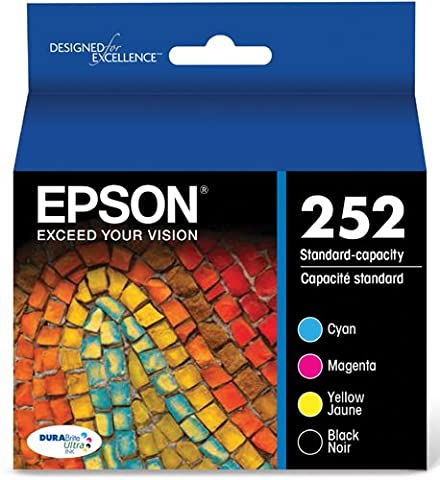 Epson T252120-BCS DURABrite Ultra Black & Color Combo Pack Standard Capacity Cartridge Ink (Epson Ink For Wf3620)