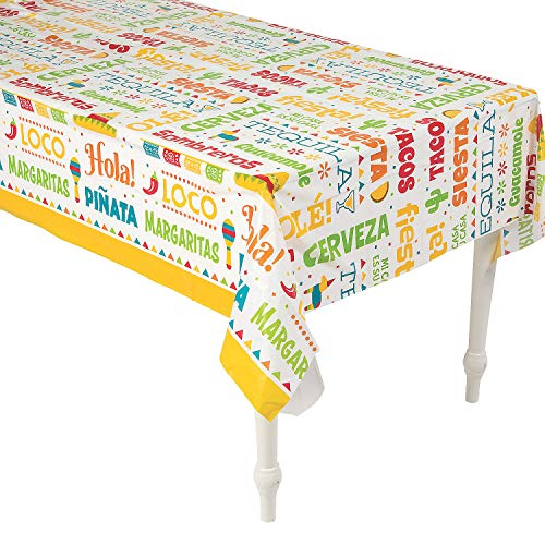- Fiesta Word Table Cover for Cinco de Mayo Party