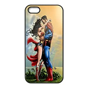 Superman and Wonder Woman iPhone 5,5S Case, Cute Iphone 5s Cases For Teen Girls Shock Absorbent Yearinspace - Black by gostart by paywork