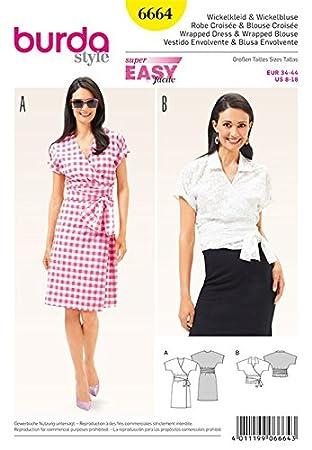 Burda b6664 Schnittmuster Kleid und Bluse Papier weiß 19 x 13 x 1 cm ...