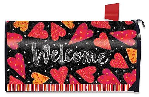 Valentine's Day Mailbox (Briarwood Lane Valentine Magnetic Mailbox Cover Hearts Valentine's Day)
