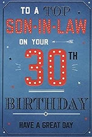 For A Special Son In Law On Your 30th Birthday Card