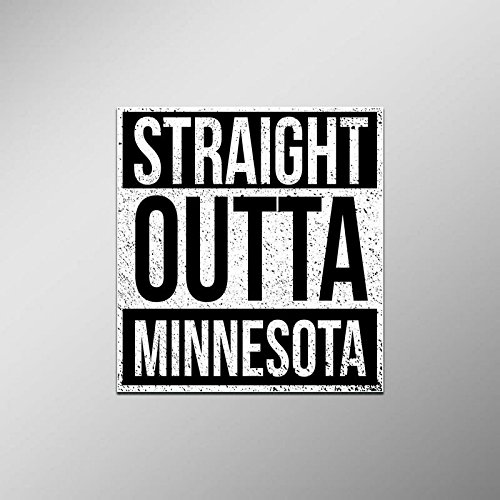 (Straight Outta Minnesota Vinyl Decal Sticker | Cars Trucks Vans SUVs Laptops Walls Windows Cups | Full Color | 4.5 X 5 Inches | KCD2087)