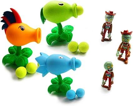 Plants Vs Zombies Chomper Shooter Zombie 15-20cm PVZ Figure Soft Plush Kid Toys