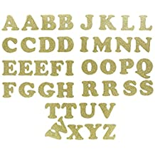 Dritz SF152-70 Applique Iron-On Letters 1-1/4-Inch Cooper-Metallic Gold