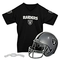 Franklin Sports NFL Oakland Raiders Replica Youth Helmet and Jersey Set