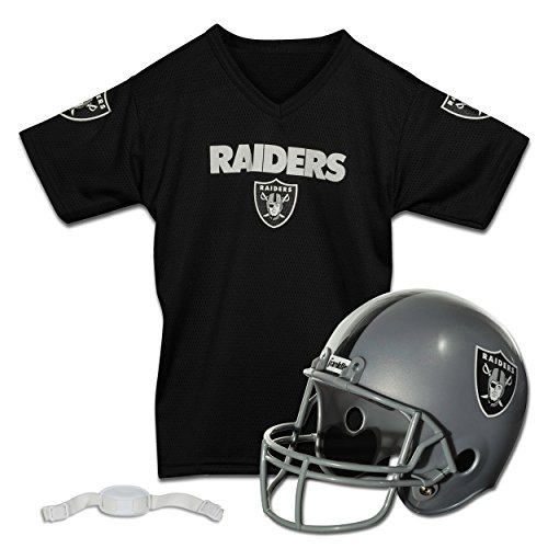 Oakland Raiders Replica Youth Helmet and Jersey Set (Oakland Raiders Logo Helmet)