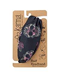 Karma Gifts Women's Half Headband, Accessory, Sugar Skull, No Size