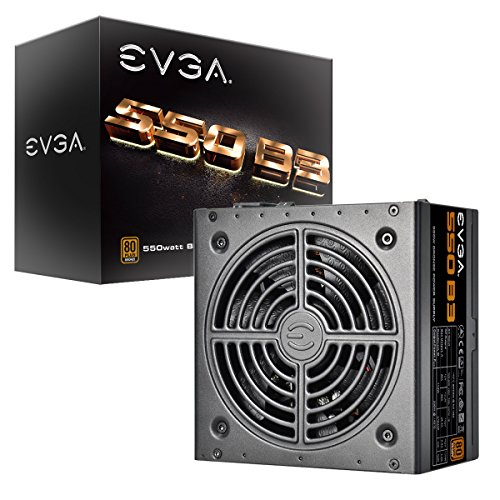 EVGA 550 B3, 80+ Bronze 550W, Fully Modular, EVGA ECO Mode, 5 Year Warranty, Compact 150mm Size, Power Supply 220-B3-0550-V1
