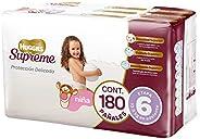 Huggies Supreme Pañal Desechable para Bebé, Etapa 6 Niña, Caja con 180 Piezas, Ideales para niñas de más de 13