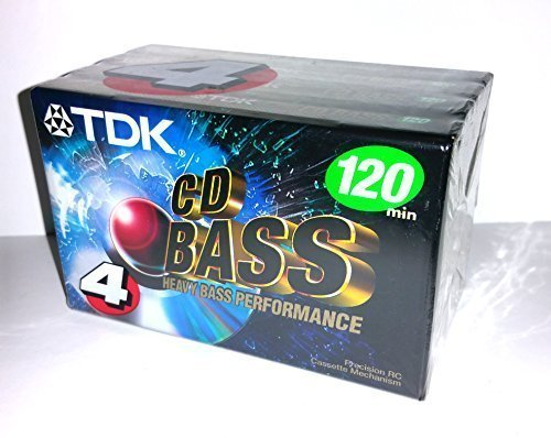 TDK CD Heavy Bass Performance 120 Minutes Audio Cassette Tap