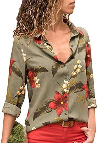 LFMDSY Blusas Mujer Moda Manga Larga con Cuello Vuelto Camisa Oficina Blusa Ocio Camisa Casual Tops Tallas Grandes L Verde Militar: Amazon.es: Deportes y aire libre