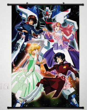 Wall Scroll Poster Fabric Painting For Anime Gundam Seed Key Roles S