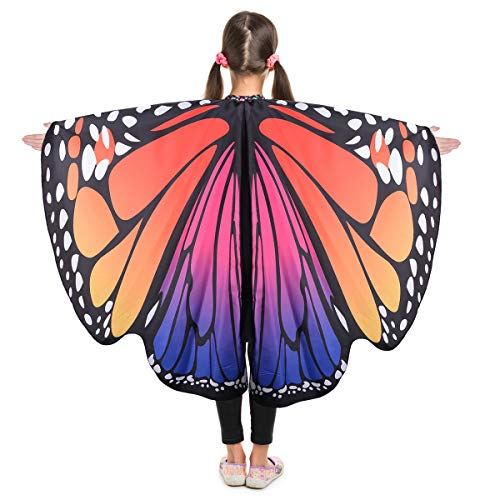 Teddy Ruxpin Halloween Costume (HITOP Kids Butterfly Wings Cape, Fairy Dance Clothing for Girls,Dress Up Party Costume Play Festival)