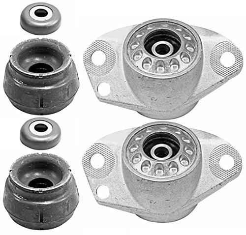 Volkswagen Suspension Rear System (Prime Choice Auto Parts KM1004907-4912 2 Front and 2 Rear Strut Mounts)
