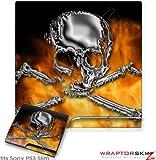 Sony PS3 Slim Skin – Chrome Skull on Fire, Best Gadgets