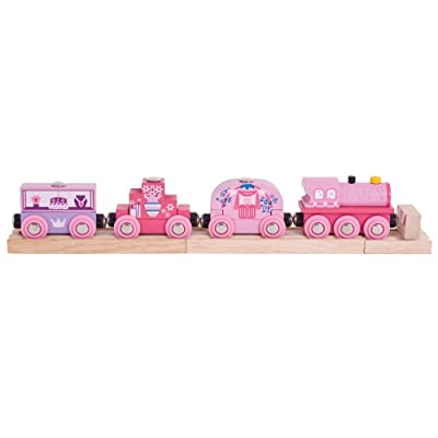Bigjigs Rail Wooden Princess Train - Other Major Rail Brands are Compatible: Toys & Games