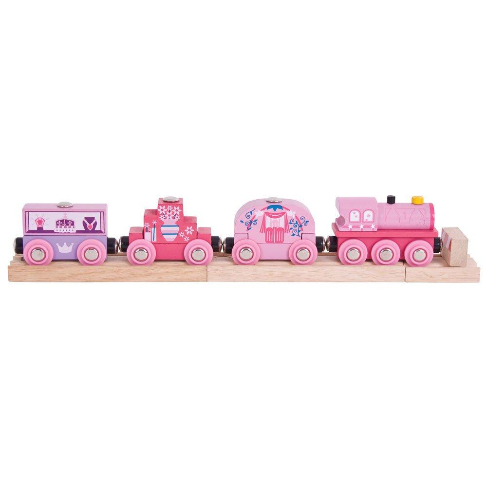 Bigjigs Rail Wooden Princess Train - Other Major Rail Brands are Compatible