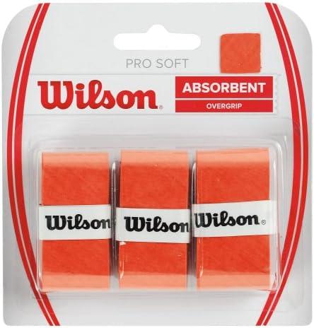 Wilson Pro Soft Overgrip Empuñadura, 3 unidades, unisex, dorado ...