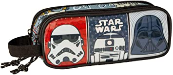 Star Wars Estuche portatodo Doble 2 Cremalleras Escolar: Amazon.es: Equipaje
