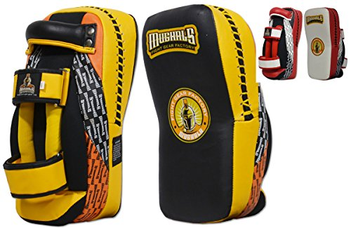 Ring to Cage MUGHALS MiM-Foam Curved Thai Pad (Yellow/Black) ()