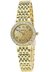 Bulova Diamond Gold-Tone Stainless Steel Women's watch #98R212