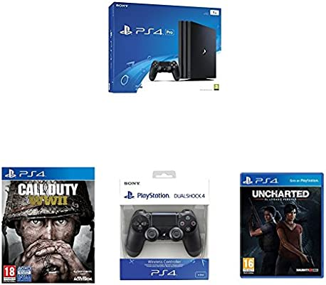 PlayStation 4 Pro (PS4) - Consola, Color Negro + Call Of Duty WWII ...